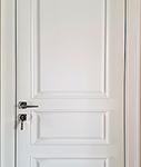 Двери комбинированные  массив  , мдф покрытые  шпоном ясень крашенные